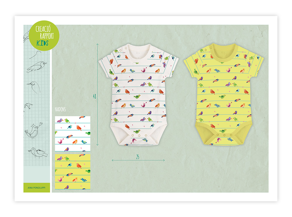Birds&Lines Babies SS18 / Body Panels
