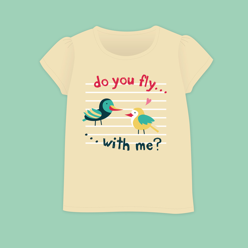 Birds&Lines Babies SS18 / TShirt / Positional2 Y
