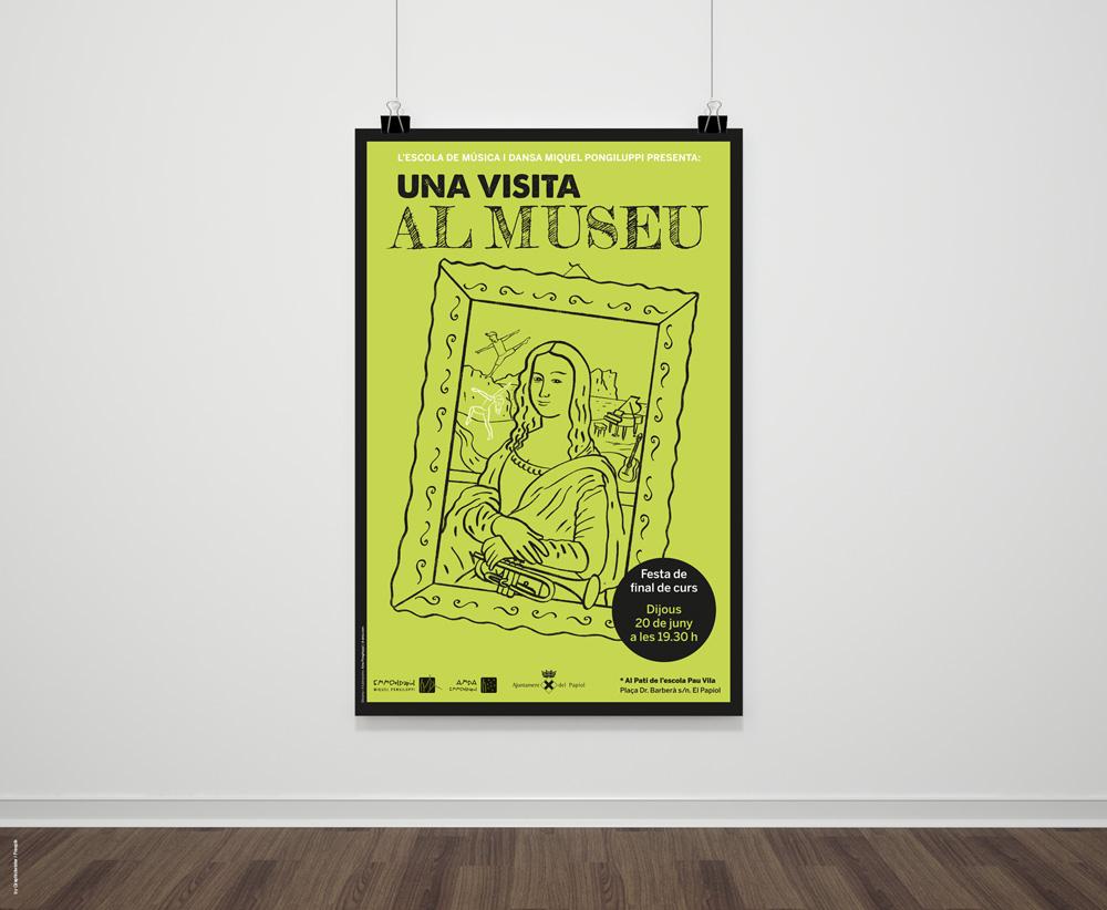 Una visita la museu. Cartell 2019 / EMMdelPapiol