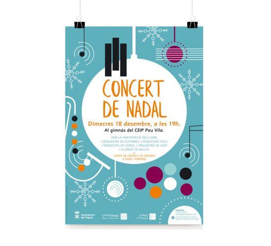 concert de Nadal EMMDMP Papiol / Cartell
